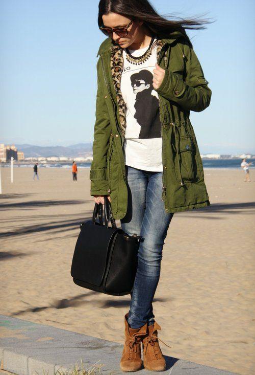 Military Style Parka Jacket | Fit Jacket