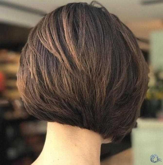 23 kurze geschichtete bob frisuren für dickes haar 2019