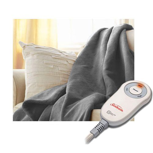 Buy Sunbeam Microplush Electric Heated Throw Blanket - Assorted Colors / Patterns at Walmart.com