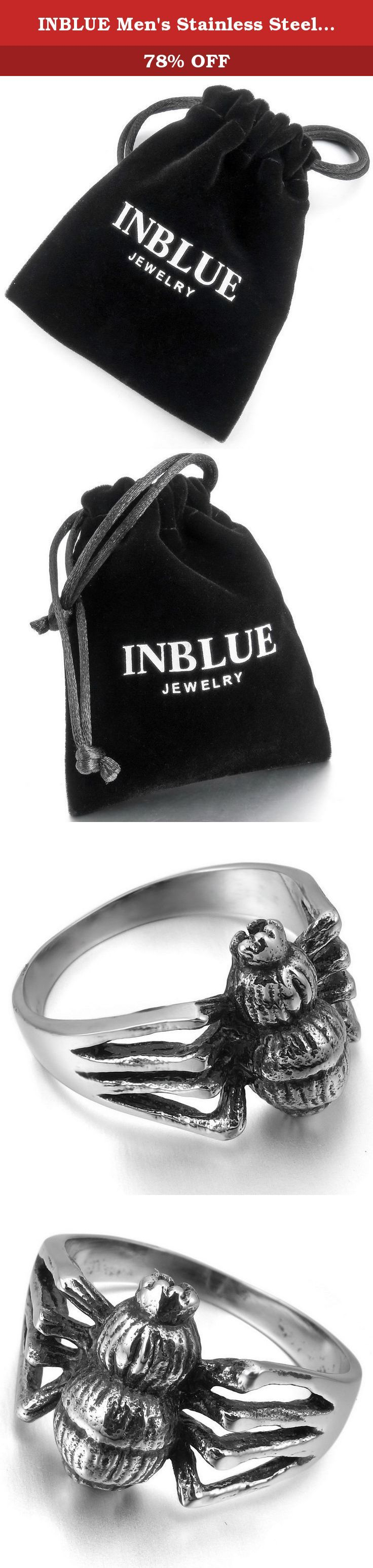 INBLUE Men's Stainless Steel Ring Silver Tone Black Spider Size9. INBLUE - High quality Jewelry Discover the INBLUE Collection of jewelry. The selection of high-quality jewelry featured in the INBLUE Collection offers Great values at affordable Price, they mainly made of high quality Stainless Steel, Tungsten, Silver and Leather. Find a special gift for a loved one or a beautiful piece that complements your personal style with jewelry from the INBLUE Collection. .