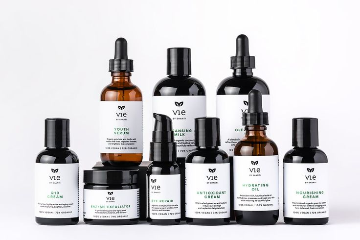 VIE skincare packaging by Eszter Laki http://mindsparklemag.com/design/vie-skincare-packaging/