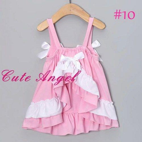 Cute Princess Pink White Ruffled 2 piece Dress Romper fits 6-12 months | Fashionfixesandmore - Children's on ArtFire