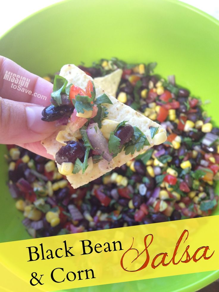 Black bean and corn salsa recipe.  Perfect for cookouts, summer gatherings and the big game!
