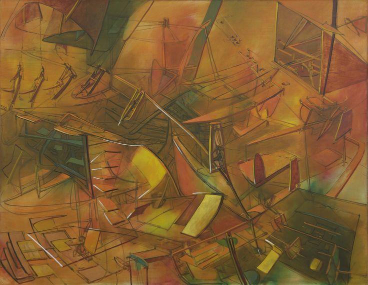 Matta Splitting the Ergo 1946 195,6 x 215,5 cm oil on canvas