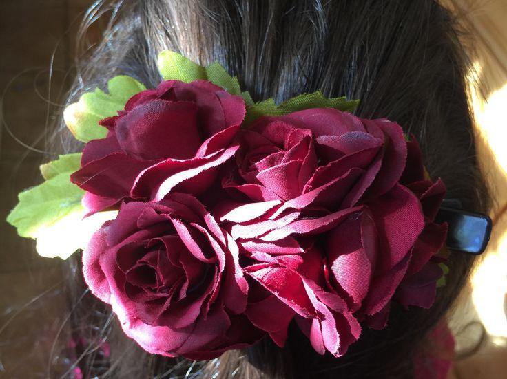 Rose Cluster Hair Clip