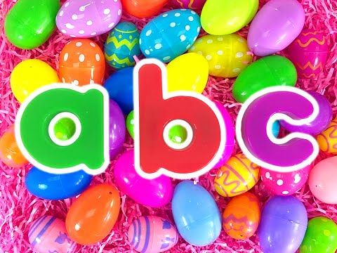 ABC Surprise Eggs | Teach Toddlers Colors, Kindergarten Kids Learn Alphabet by Busy Beavers - YouTube