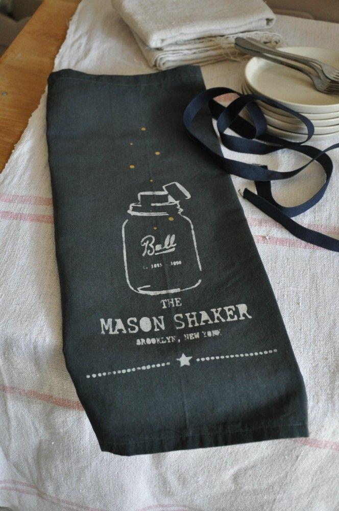 "Tablier ""Mason Shaker"" Anthracite - smile-shop.fr"