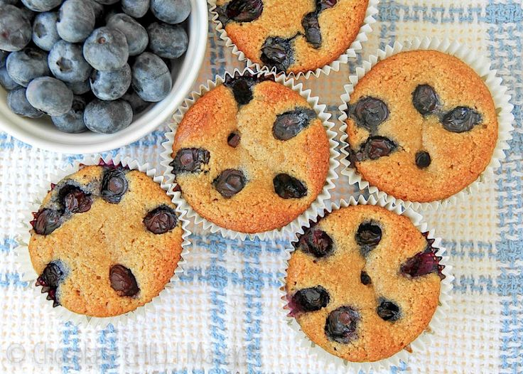 Blueberry Almond Muffins (protein) | food | Pinterest