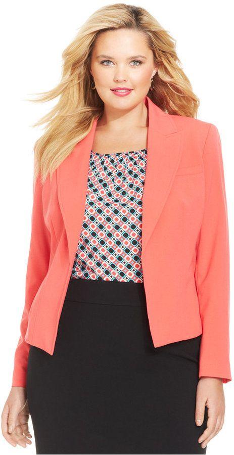Beautiful color! Plus Size Blazer - Coral   Plus Size ...