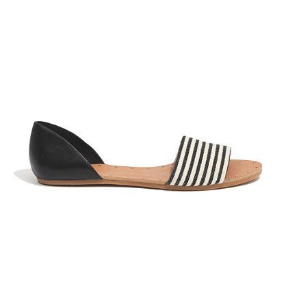 The Thea Sandal in Ticking Stripe - sandals - Women's SHOES & SANDALS - Madewell