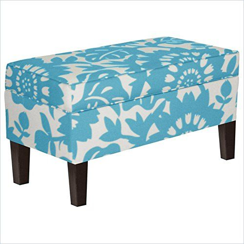Amazon.com: Skyline Furniture Storage Bench in Surf: Home & Kitchen