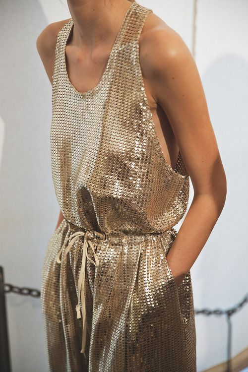 sparkling gold jumpsuit #holiday #style