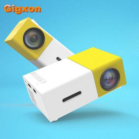 Gigxon - G19 YG-300 best gift support full HD 1920*1080P LED LCD mini projector AV/USB/ SD card/ HDMI