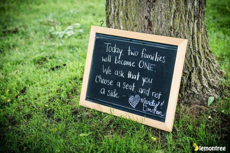 A personalized sign for the guests.