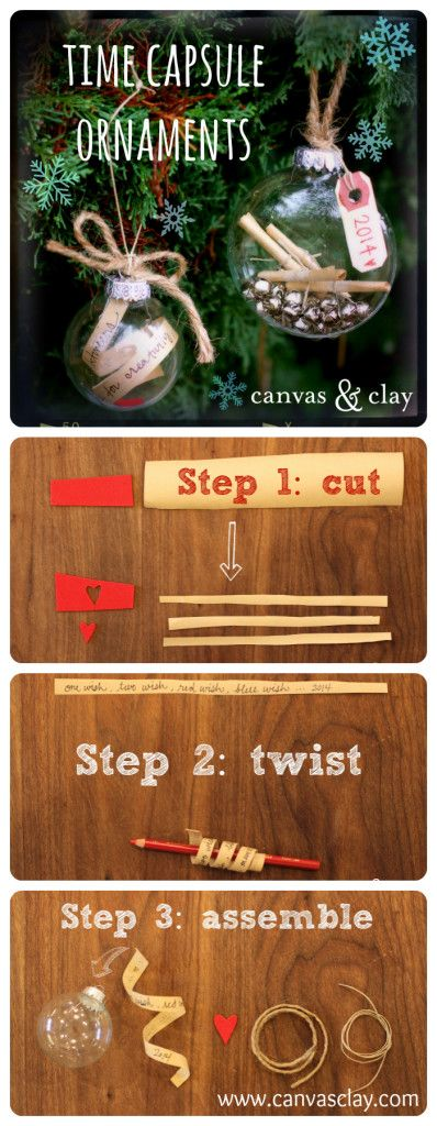Time Capsule Ornaments How-to video by www.canvasclay.com #ornament #gift…