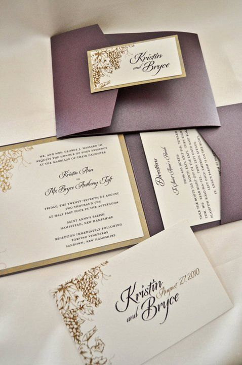 Perfect Vineyard / Grape Theme Wedding Invitations By InvitedDesignStudio, $15.00
