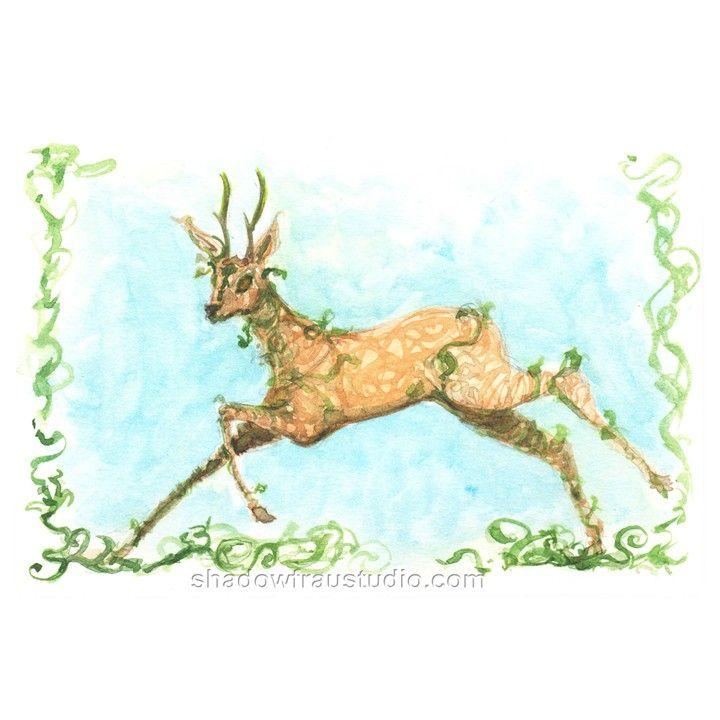 Forest Elemental Stag Spirit  from Shadow Frau Studio for $50.00