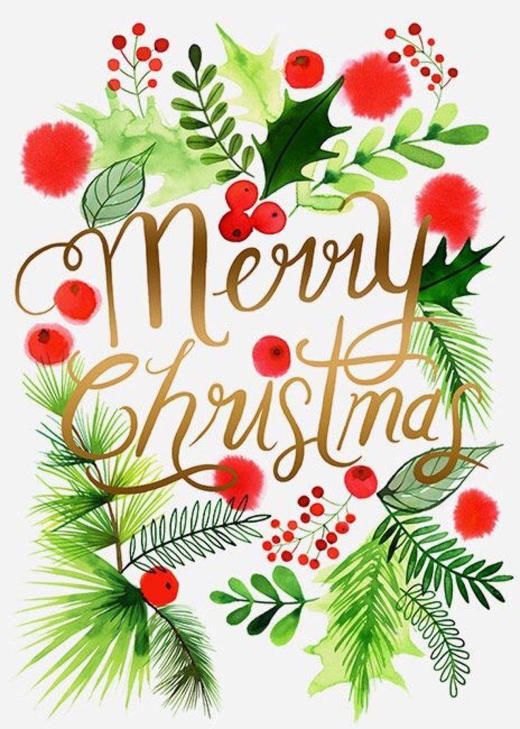 Margaret Berg Art Illustration Holiday Christmas Merry Everyone