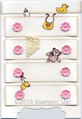 """This is really cute. Label punch used to make the decorative cutout at bottom of the """"dresser""""."""