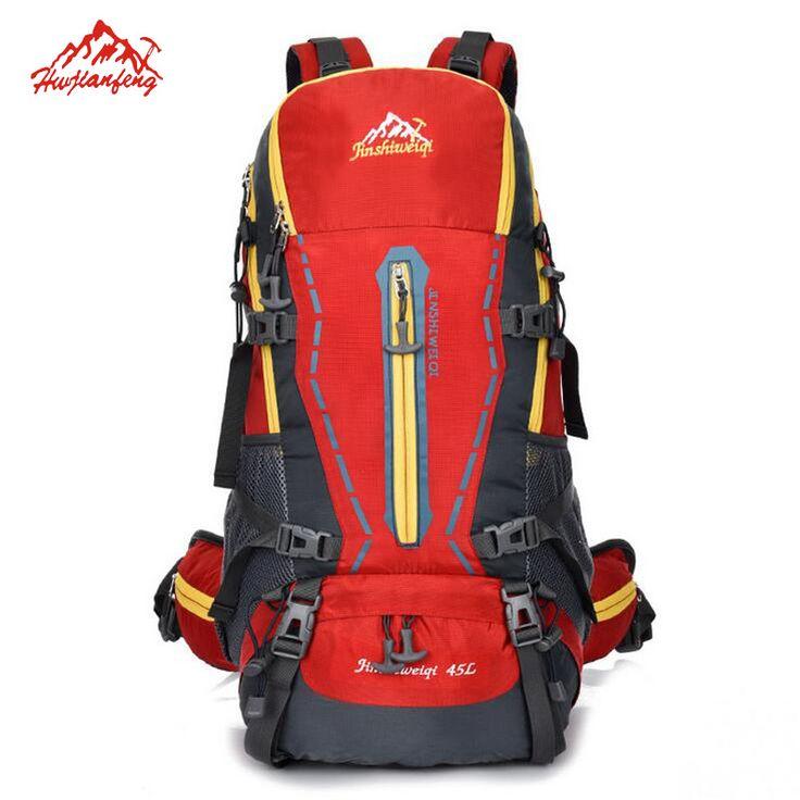 45L Men's Women's Professional Hiking Bags Large Outdoor Sport Bags New Waterproof  Camping Mochila Trekking Shoulders Backpacks