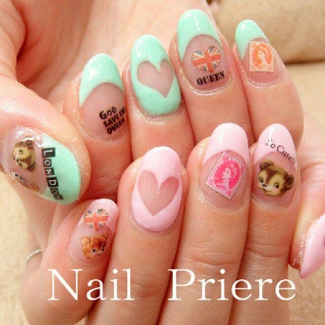 Kawaii British nail art - 42 Best Kawaii Nail Art Images On Pinterest Kawaii Nail Art
