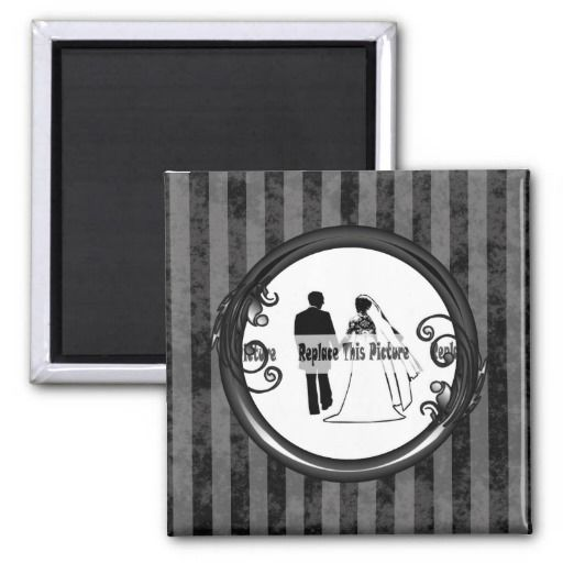 http://www.zazzle.com/black_grey_dark_vintage_frame_magnets-147846425438810050?rf=238523064604734277 Black Grey Dark Vintage Frame Magnets - This square magnet has a black and grey striped, grunge background which looks faded and old. Place your name or picture inside the shiny black frame with leaves and swirly vines growing from it. This would make a great mothers day, fathers day, Christmas or best friend gift.