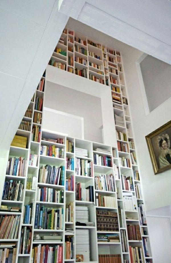 Die besten 25+ Hochregal dekoration Ideen auf Pinterest - ideen bibliothek zu hause gestalten
