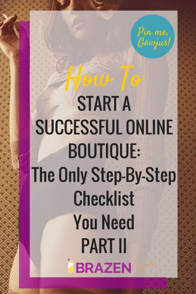 Online boutique checklist