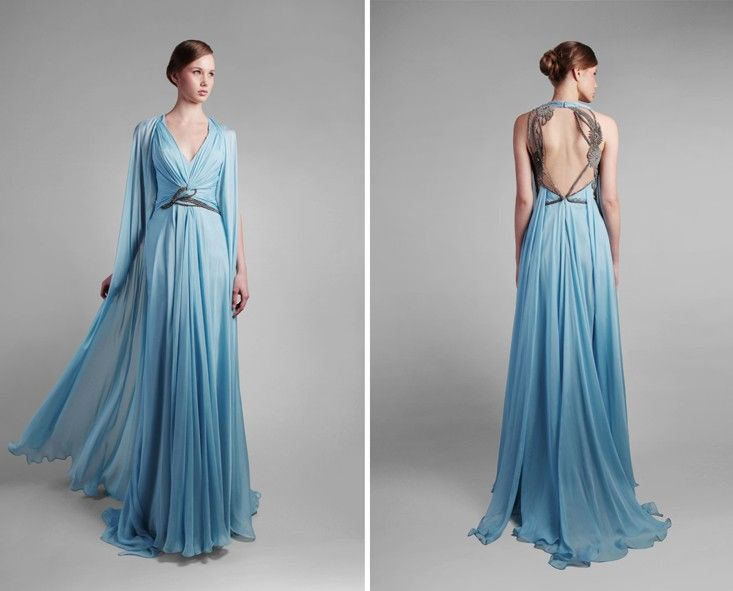 Gemy Maalouf - GEMY MAALOUF - Spring/Summer 14 ... Totally echoes Elsa's Frozen dress!