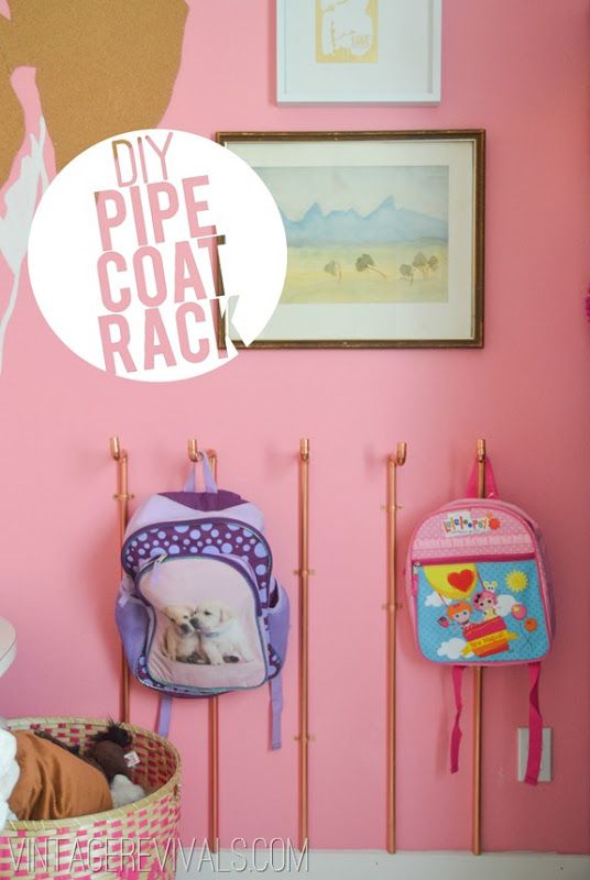 DIY Copper Pipe Wall Coat Rack Tutorial