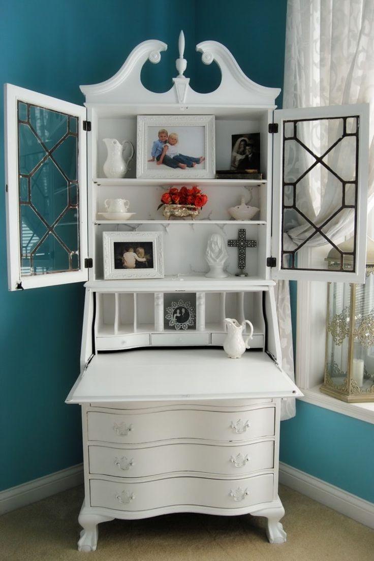 Best 25+ Secretary Desk With Hutch Ideas On Pinterest | White Desks For  Sale, Painted Secretary Desks And Secretary Desks