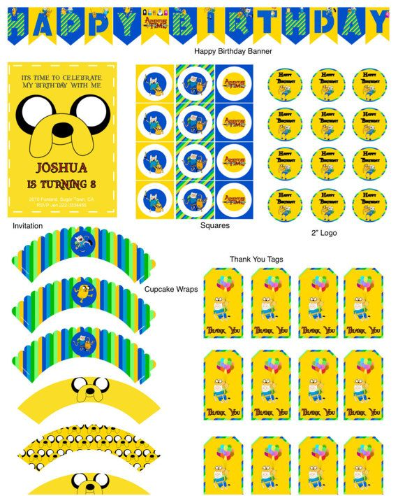 Adventure Time Birthday Party Adventure Time by KidsPartyDreams                                                                                                                                                                                 More