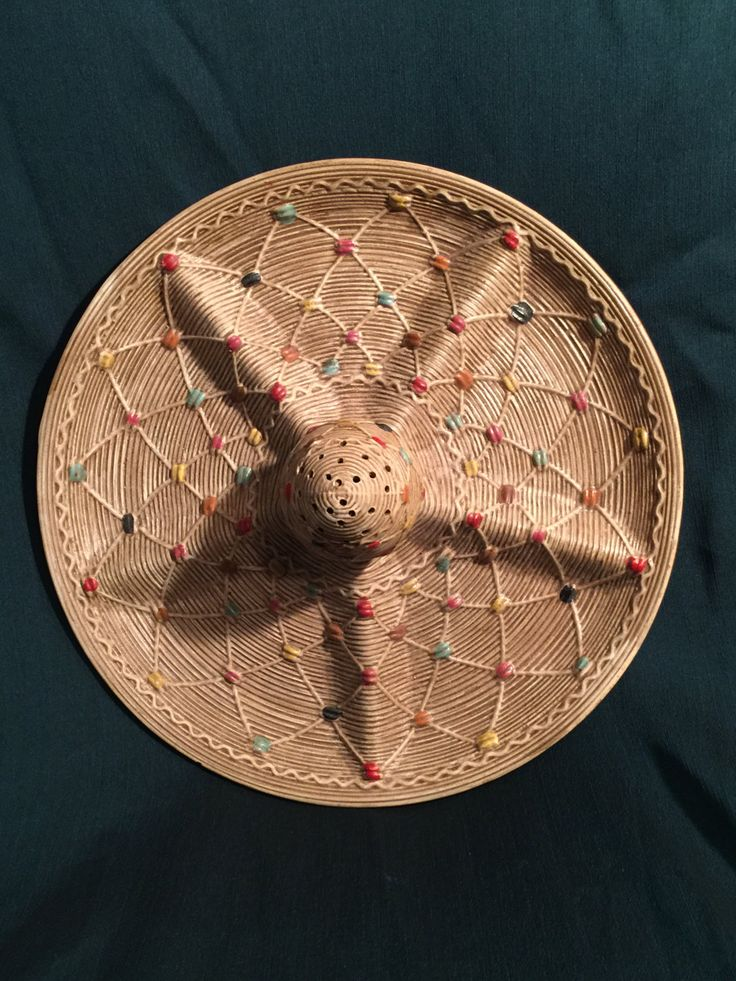 Vintage 1960s Southwest Style Sombrero Serving Tray with Toothpick Holder; Relish tray; Vintage Tilso Appetizer tray; by Pamsplunder on Etsy