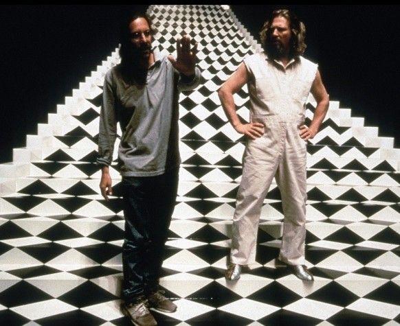 Joel Coen orientando a famosa cena do sonho de O Grande Lebowski.