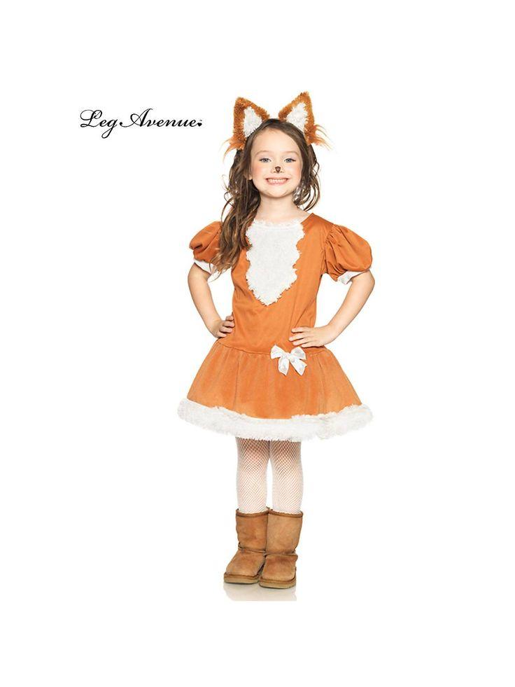girlu0027s 2 pc feisty fox costume girls animals halloween costumes