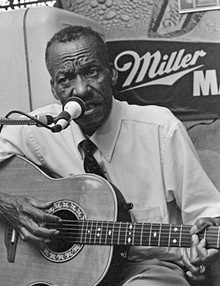 """James """"Son"""" Thomas (October 14, 1926 – June 26, 1993) was an Delta blues musician, gravedigger and sculptor from Leland, Mississippi.  Thomas was known as a folk artist for his sculptures made from un-fired clay which he dug out of the banks of the Yazoo River. His most famous sculpted images were skulls (often featuring actual human teeth) which mirrored his job as a gravedigger. Interesting that many blues artist were gravediggers at some point in their lives..."""
