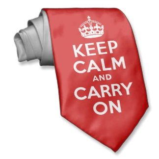 """Keep Calm and Carry On Tie. Custom Neck Ties. What's a tailored suit without a custom tie! Create one-of-a-kind ties for yourself or your loved ones. Upload your own images and patterns, or browse thousands of stylish designs to wear in the office or on the town. 55"""" long, 4"""" wide (at widest point). Unlimited colors. Made of silky 100% polyester fabric. No minimum order."""