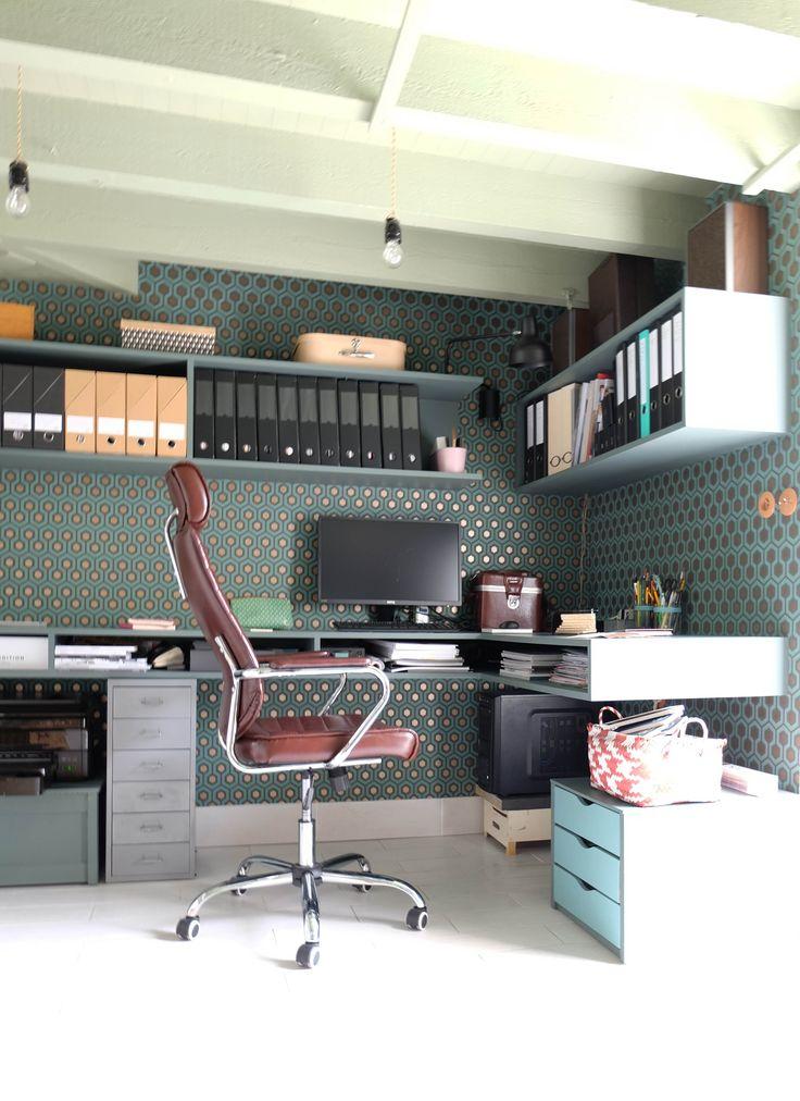 365 best images about le coin bureau se fait d co on pinterest coins offices and craft rooms. Black Bedroom Furniture Sets. Home Design Ideas