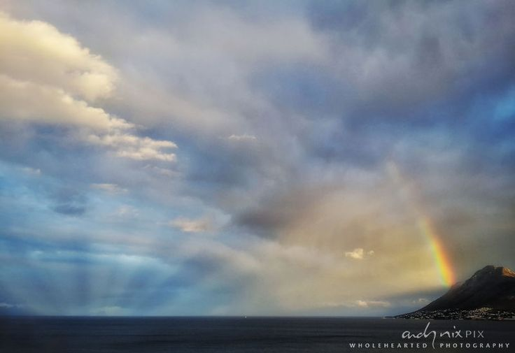 """Atmostpheric Optics: Anti-repuscular Rays and Rainbow. Prints are available via my website and for a 10% discount use the coupon code """"PIC OF THE WEEK"""".)"""