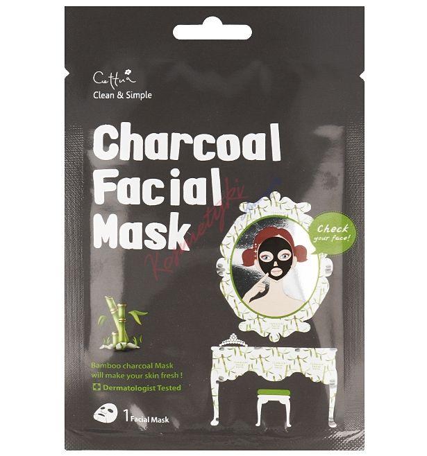 Cettua Charcoal Facial Mask Maska W Płachcie Z Węgla Bambusowego cena 12,90 zł | Kosmetyki z Ameryki - Tanie Kosmetyki Online