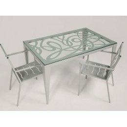 Mesa de jardín Bormujos - mesas de forja