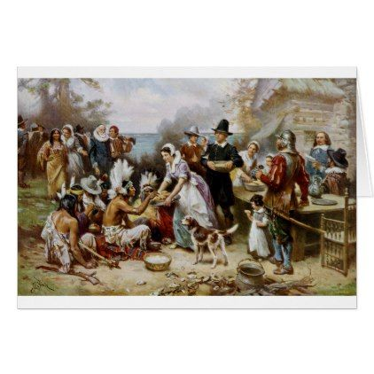 The First Thanksgiving Card - thanksgiving greeting cards family happy thanksgiving