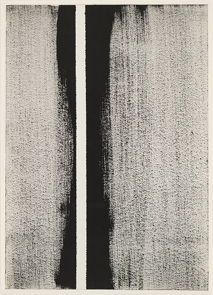 Painterly monochrome stripes by Barnett Newman, Perfect print-spiration