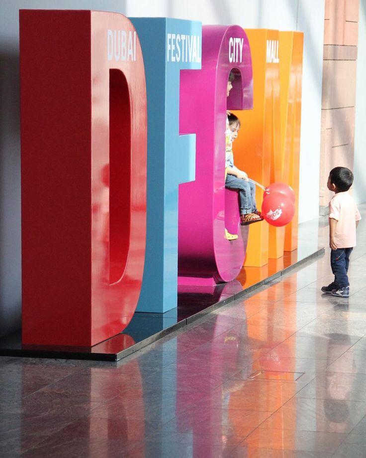 #uae #dubai #mydubai #festivalcity #dfcm #letters #colours #mall #fun #children