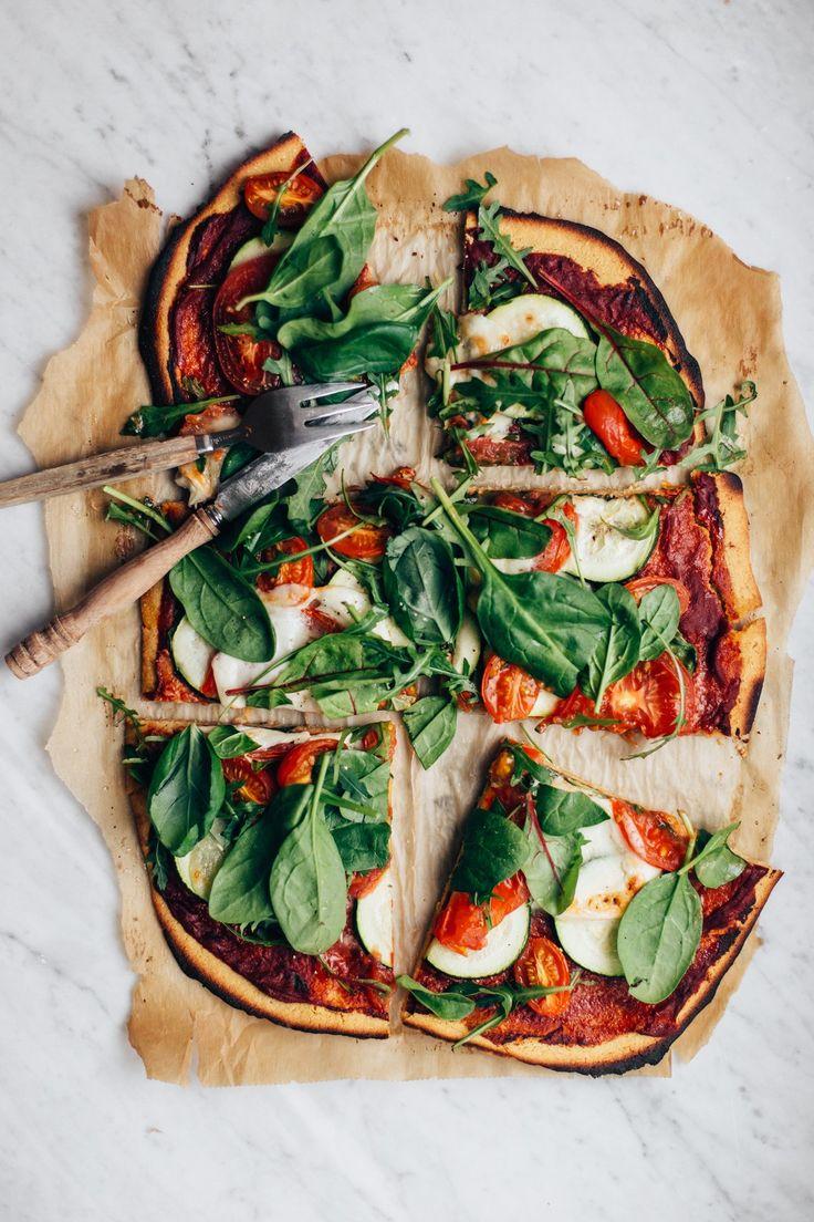 Easy Chickpea Flour Pizza   tuulia blog