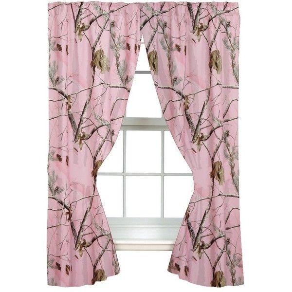 Realtree AP Pink Rod Pocket Drape, 2 Panels, 2 Tie-backs ❤