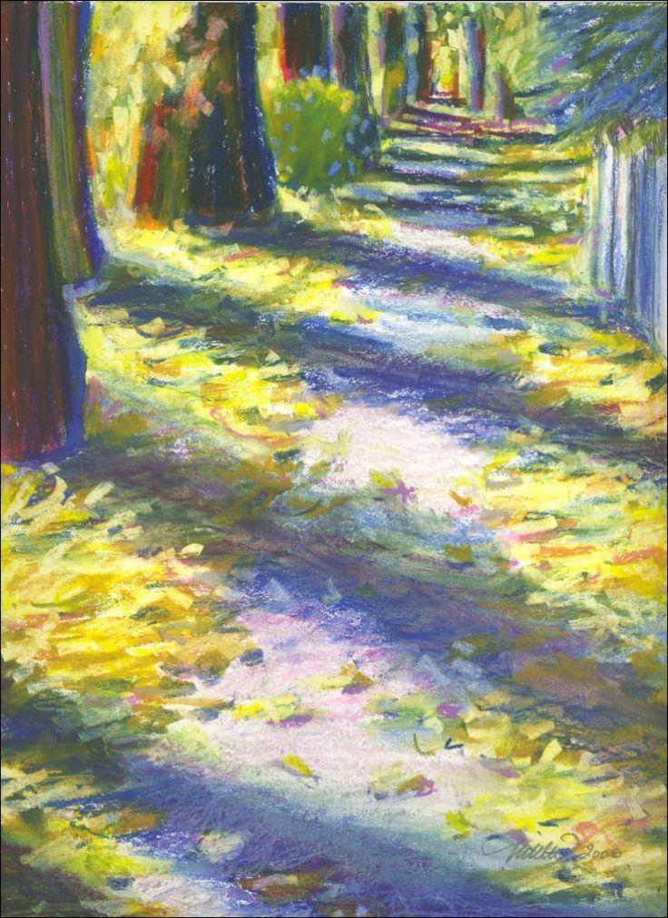 Impressionistic Oil Pastel Landscapes Google Search