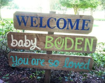 Welcome Home Baby Sign. Newborn Baby Announcement Front Yard Sign. Baby Shower sign. Its a Boy Sign. Its a Girl Sign. Baby Shower  Gift