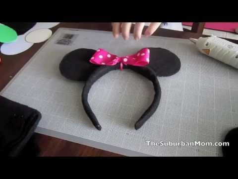 How to Make Mickey Minnie Mouse Ears for a Party!Mickey Minnie, Headbands Tutorials, Minnie Mouse Ears Headband, Birthday Parties, Ears Headbands, 1St Birthday, Parties Ideas, Mickey Mouse Ears, Birthday Ideas