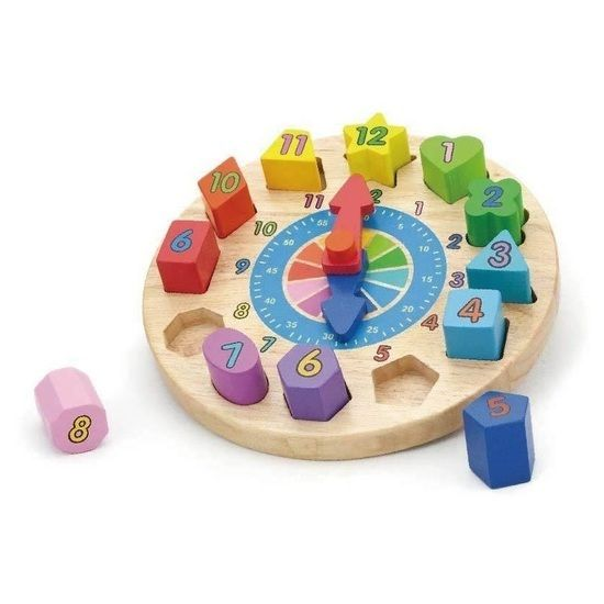 Viga Geometric Block Puzzle Clock